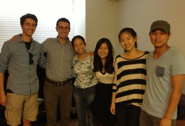 Meeting with several leaders from the NYU Medical Student Christian Fellowship