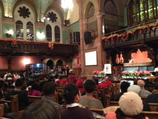 Alissa and I celebrated our first Christmas together at historic Emmanuel Baptist Church in Brooklyn.