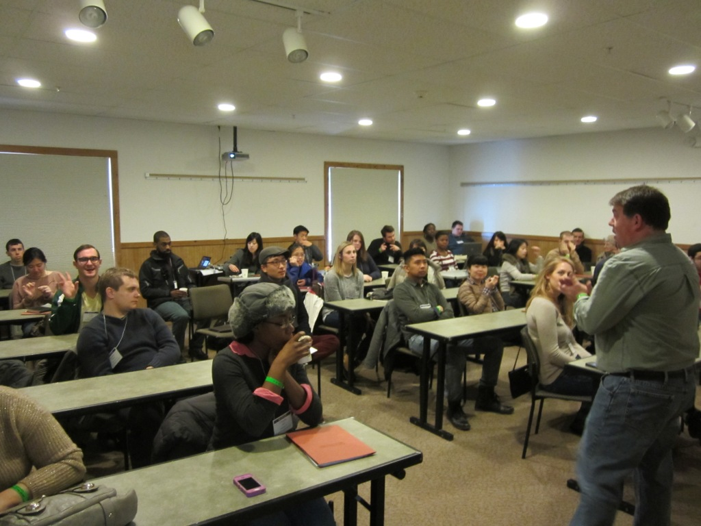Mike Schutt, the national director for the Christian Legal Society's student ministries, leading a breakout session for Christian law students on being faithful in legal practice and in the legal academy. The NYU CLF students were blessed and challenged by Mike's message and our student leaders are currently reading his book Redeeming Law: Christian Calling and the Legal Profession (InterVarsity Press, 2007).