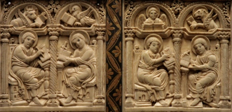 Four Evangelists-8th century German relief